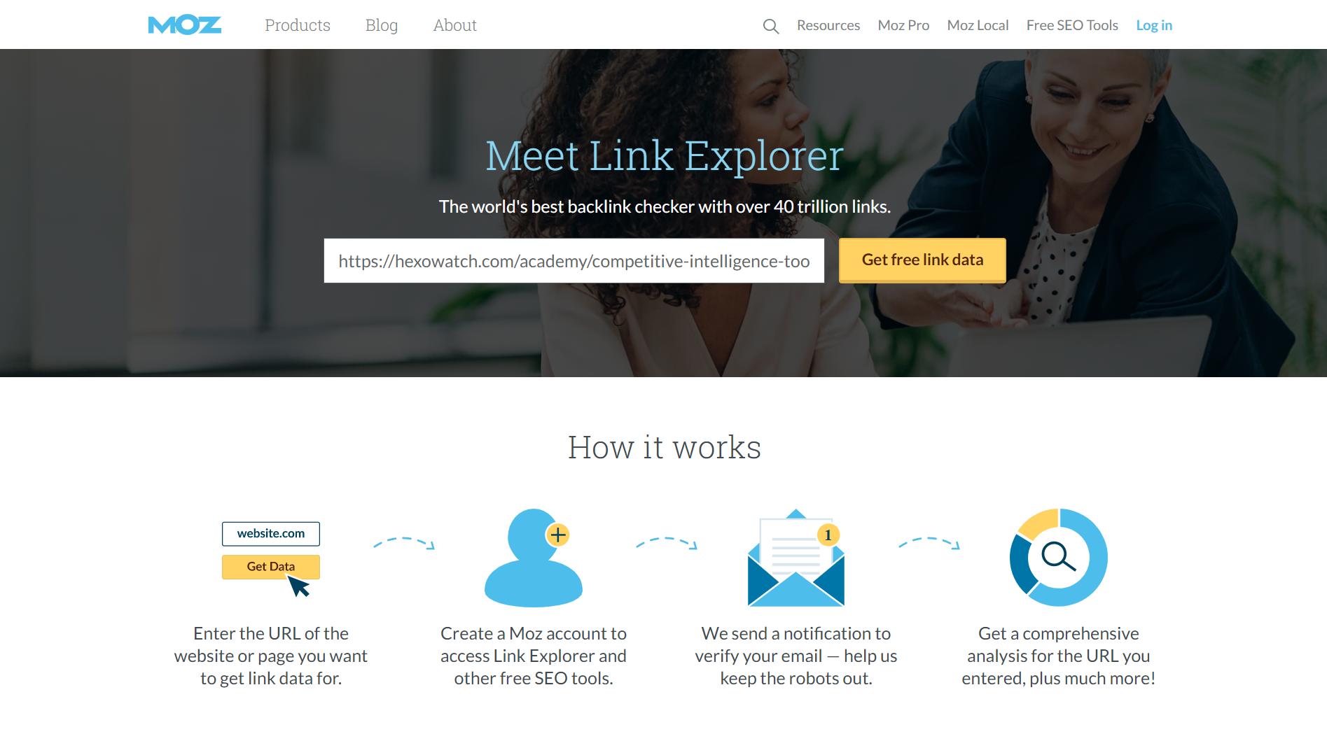 OpenSiteExplorer Landing Page